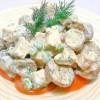 Salade de pommes de terre au poulet fumé