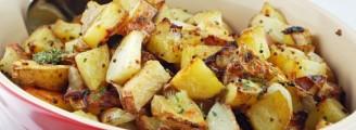 Pommes de terre en croûte de moutarde