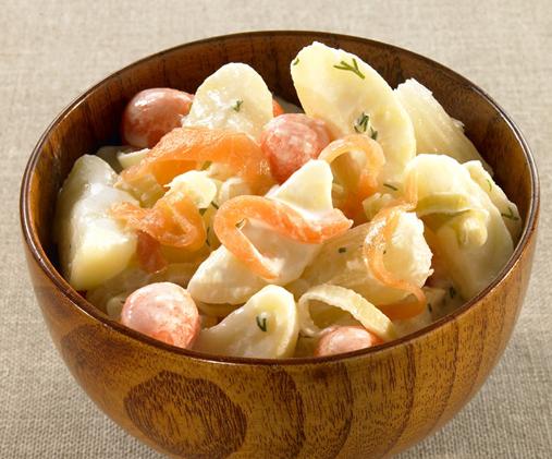 salade la scandinave saumon pommes de terre la recette chef patate. Black Bedroom Furniture Sets. Home Design Ideas