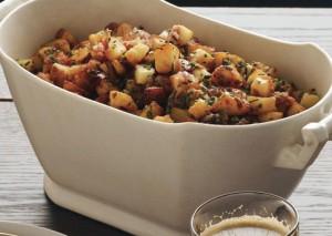 Recettes de patates roties au lard