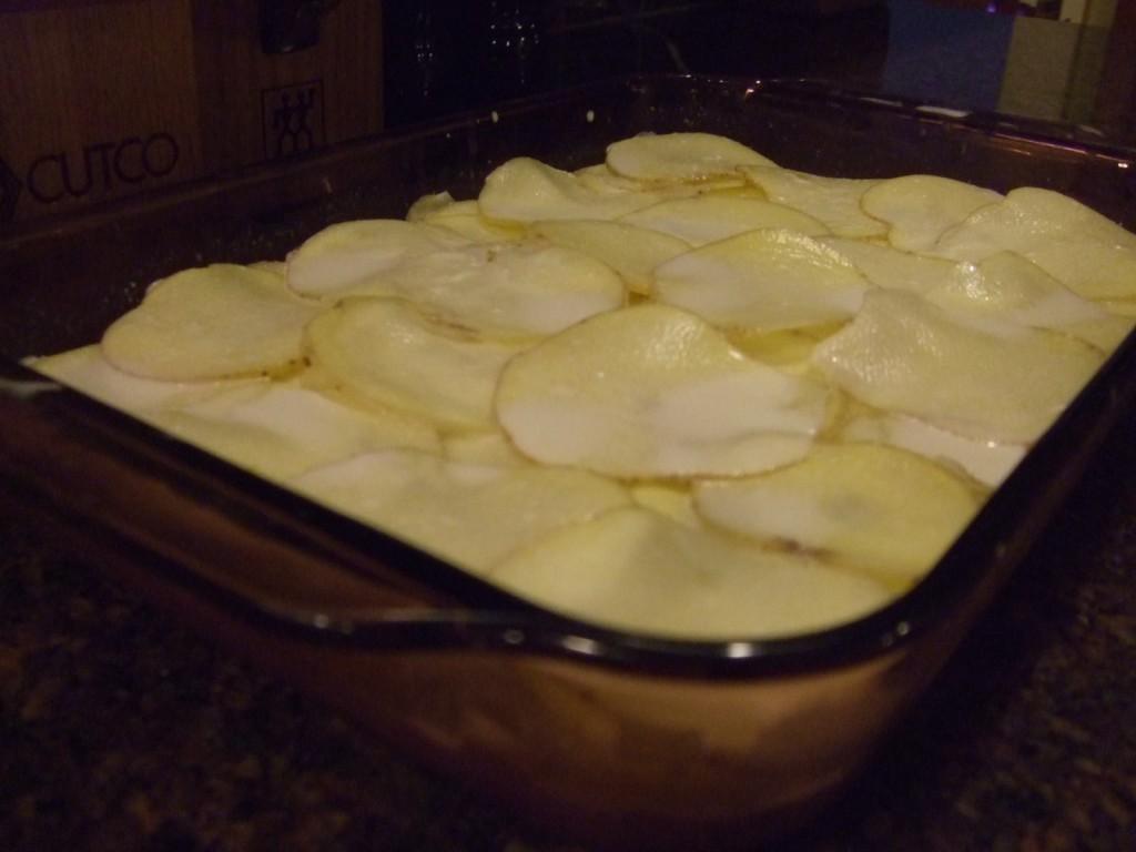 Pommes de terre gratin es la truite fum e la recette chef patate - Recette de pomme de terre en gratin ...