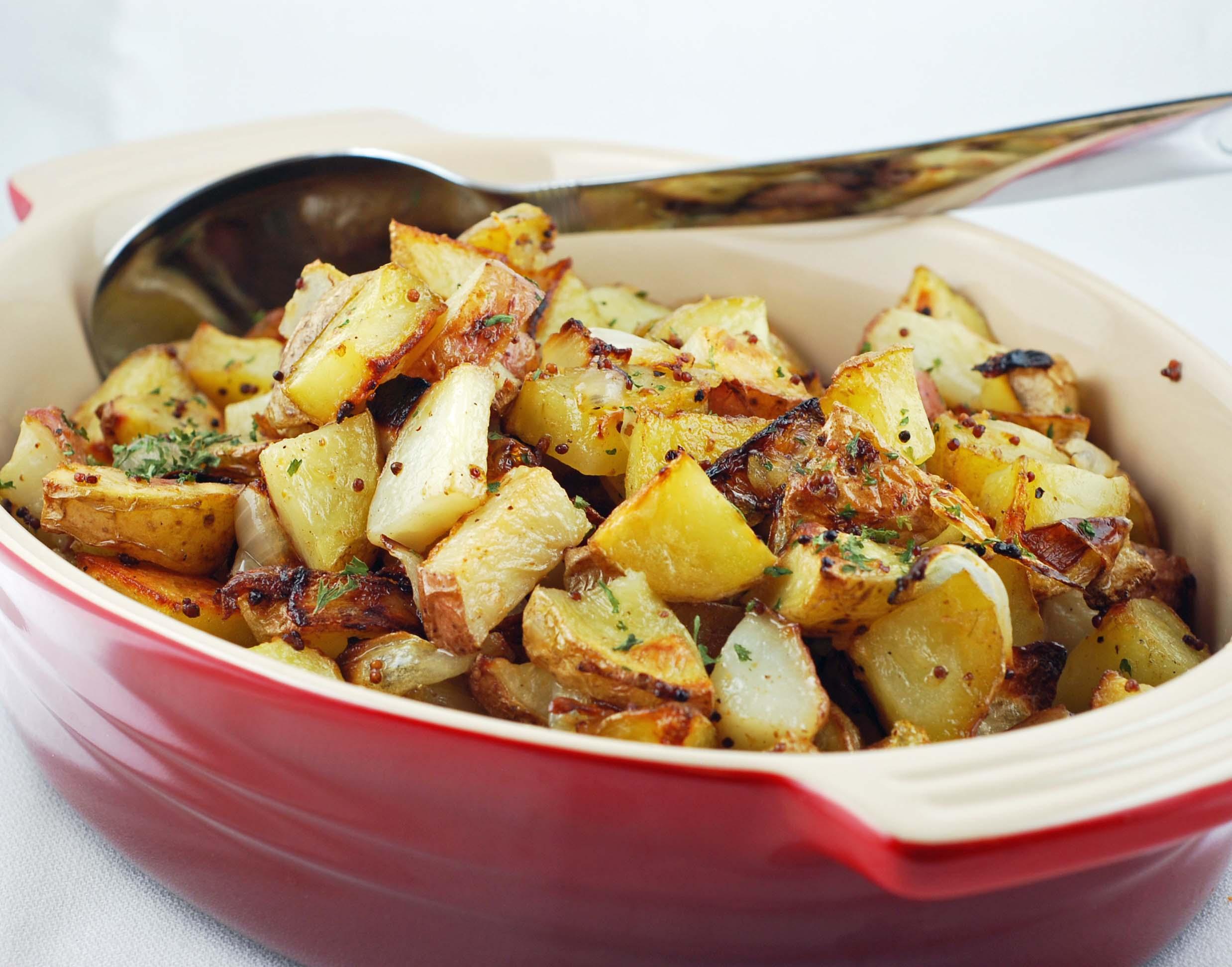 Retourner sur la page : Pommes de terre en croûte de moutarde