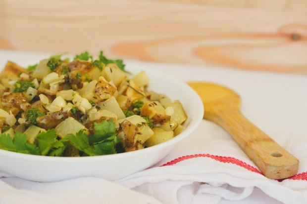 Salade chaude aux noisettes et aux pistaches